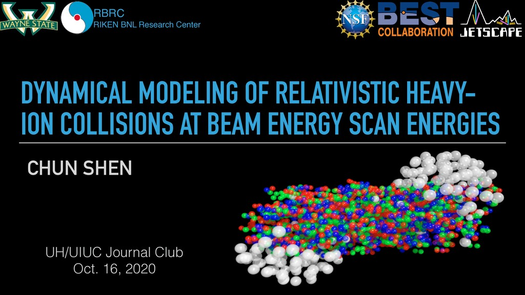 DYNAMICAL MODELING OF RELATIVISTIC HEAVY- ION C...