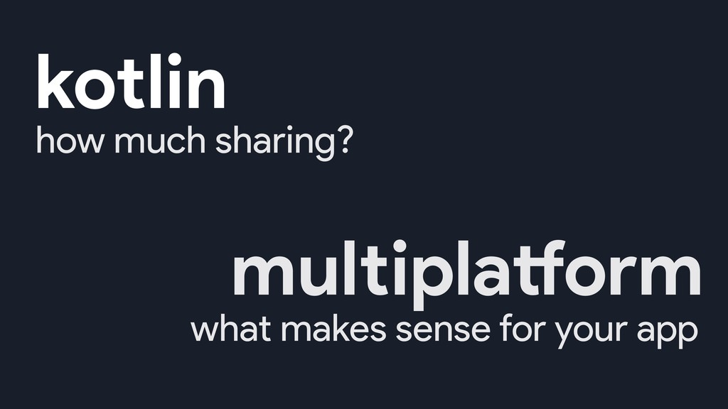 how much sharing? what makes sense for your app...