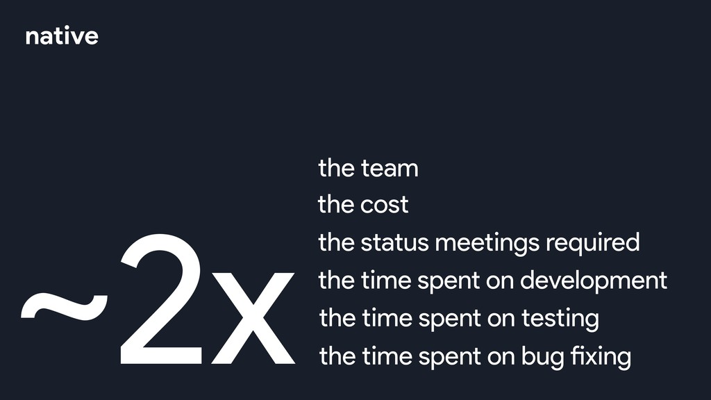 ~2xthe team the cost the status meetings requir...