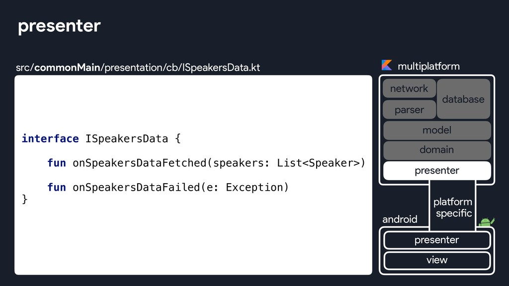 presenter multiplatform network database androi...