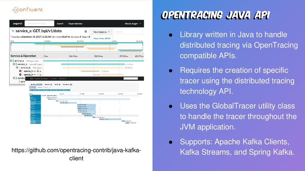 Opentracing java api ● Library written in Java ...