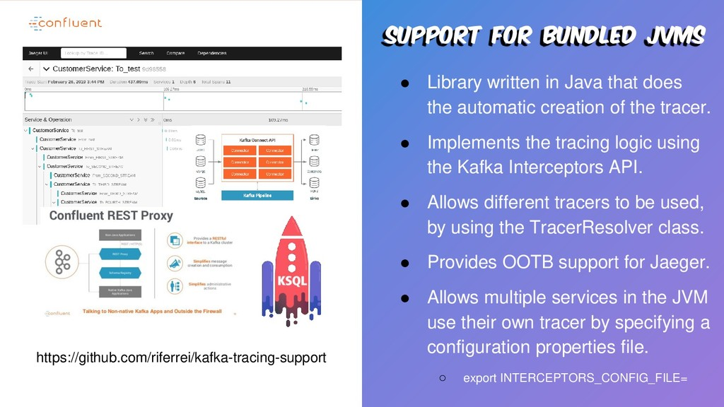 Support for bundled jvms ● Library written in J...