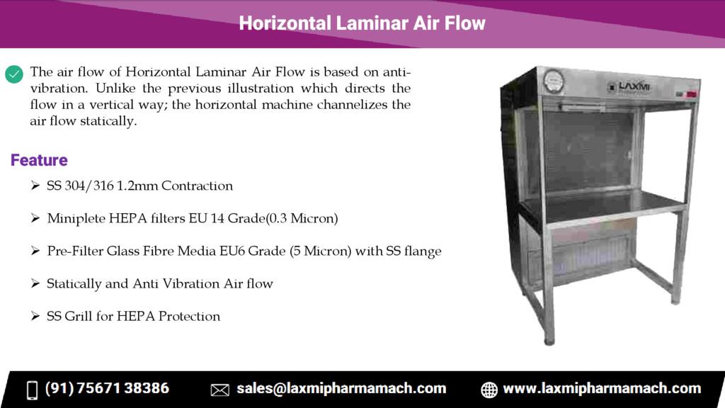 Horizontal Laminar Air Flow The air flow of Hor...