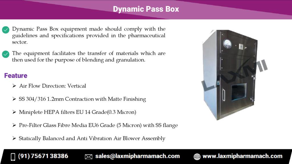 Dynamic Pass Box Dynamic Pass Box equipment mad...