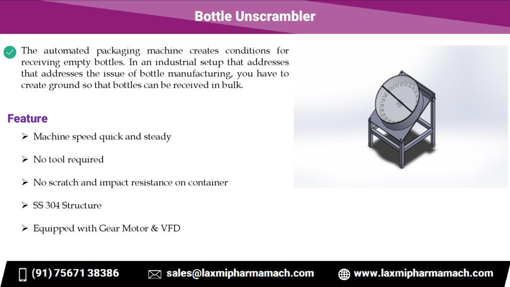 Bottle Unscrambler The automated packaging mach...