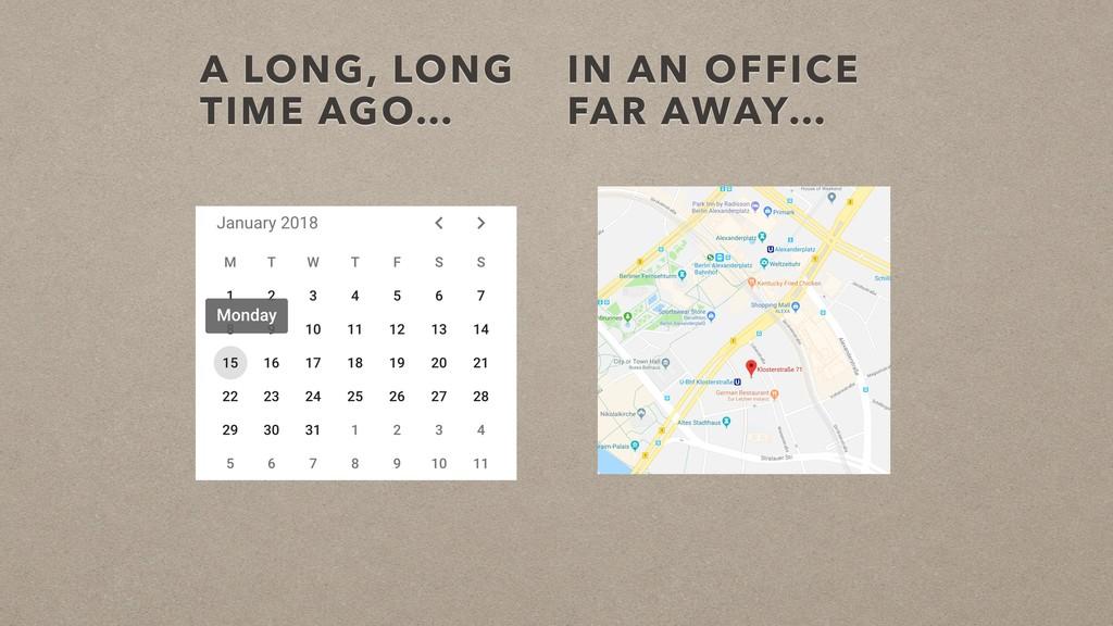 A LONG, LONG TIME AGO… IN AN OFFICE FAR AWAY…
