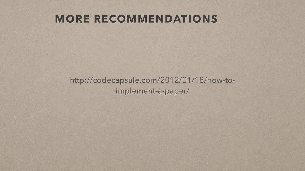 MORE RECOMMENDATIONS http://codecapsule.com/201...