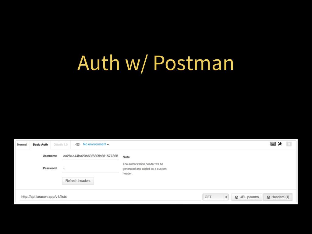 Auth w/ Postman