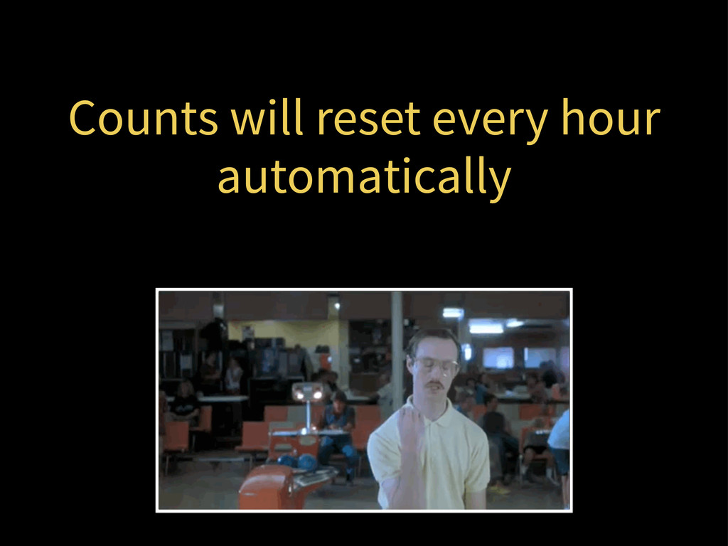 Counts will reset every hour automatically