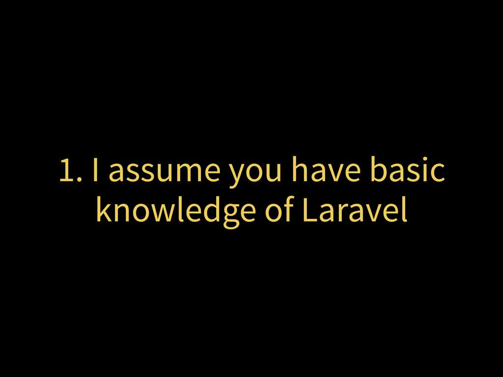 1. I assume you have basic knowledge of Laravel