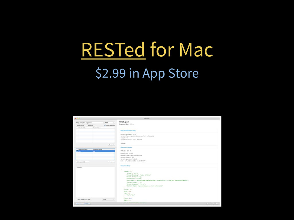 RESTed for Mac $2.99 in App Store