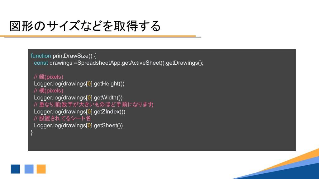 図形のサイズなどを取得する function printDrawSize() { const ...