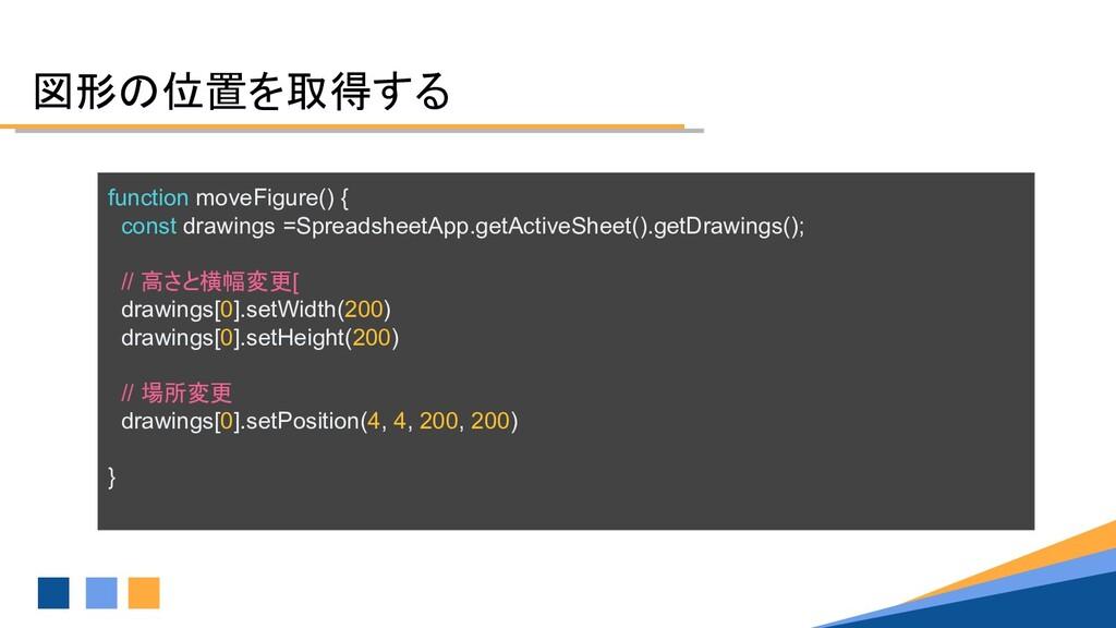 図形の位置を取得する function moveFigure() { const drawin...