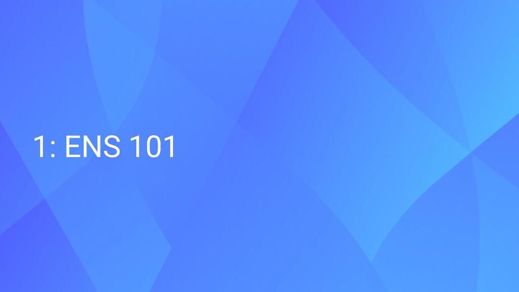 1: ENS 101