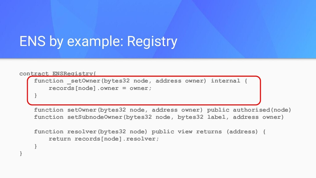 contract ENSRegistry{ function _setOwner(bytes3...