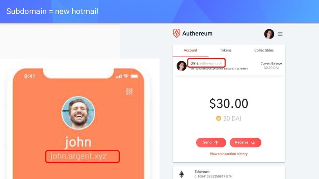 Subdomain = new hotmail