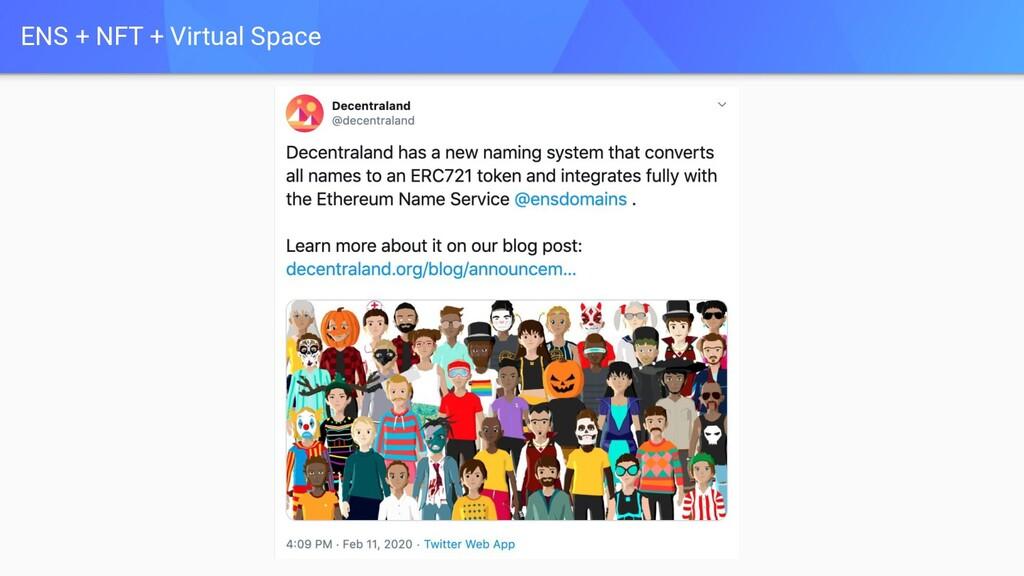 ENS + NFT + Virtual Space