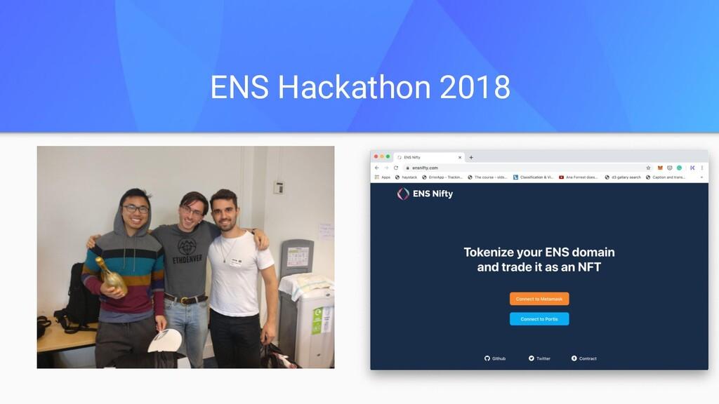 ENS Hackathon 2018