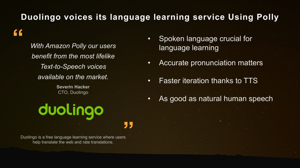 Duolingo voices its language learning service U...