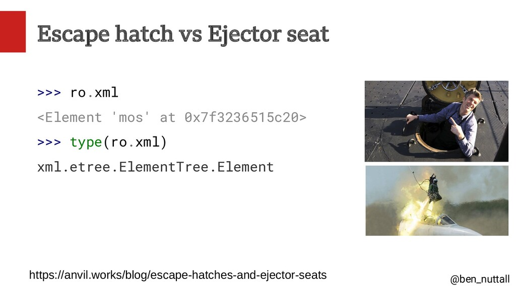 @ben_nuttall Escape hatch vs Ejector seat >>> r...