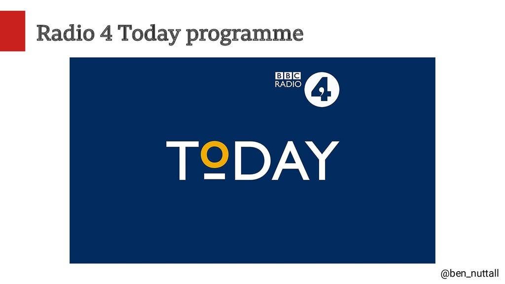 @ben_nuttall Radio 4 Today programme