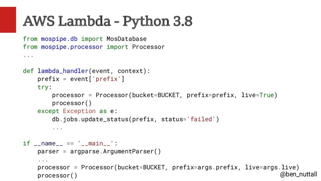 @ben_nuttall AWS Lambda - Python 3.8 from mospi...