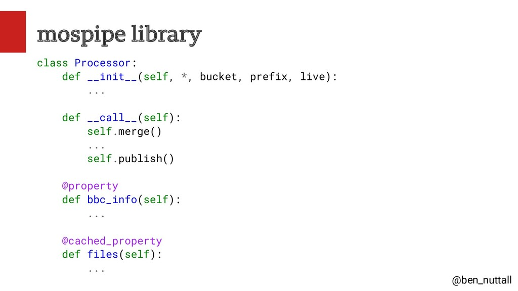 @ben_nuttall mospipe library class Processor: d...