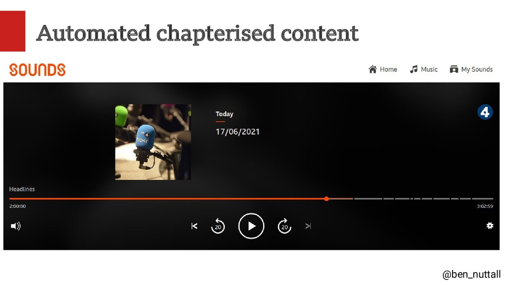 @ben_nuttall Automated chapterised content