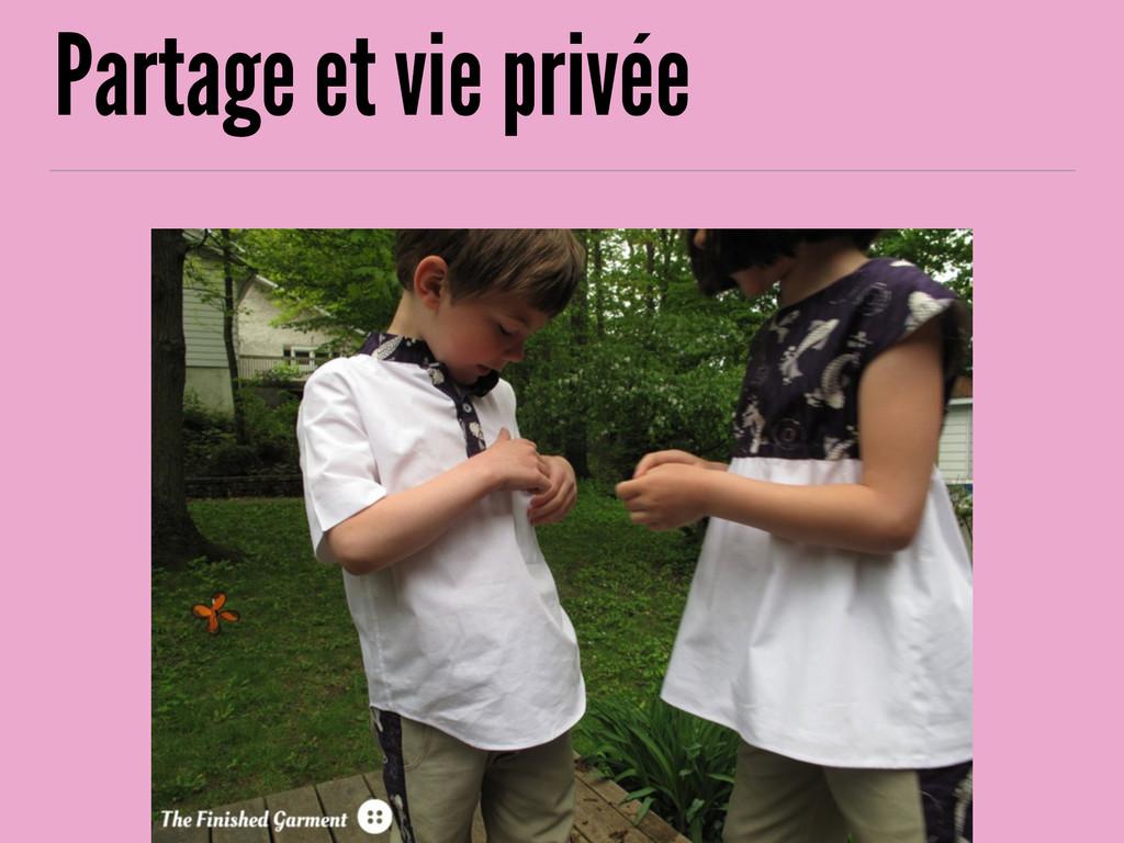 Partage et vie privée