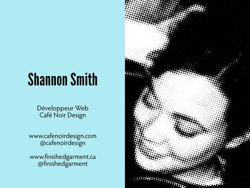Shannon Smith Développeur Web Café Noir Design ...