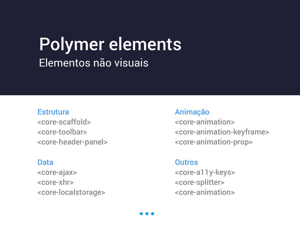 Polymer elements Elementos não visuais Estrutur...