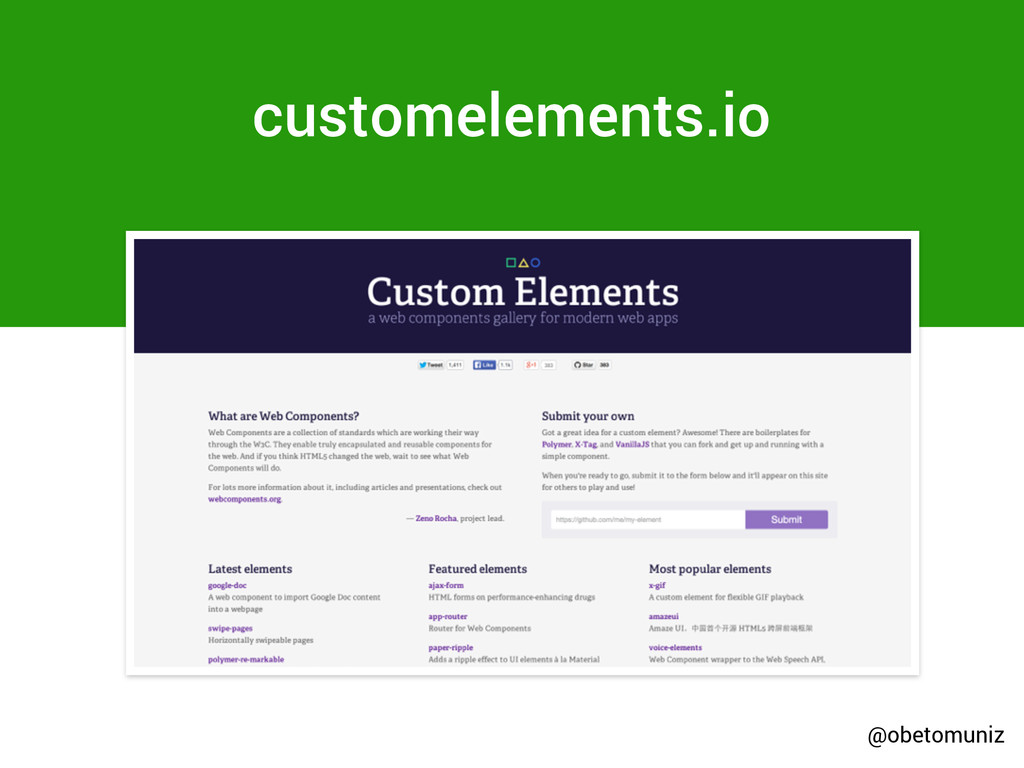 customelements.io @obetomuniz