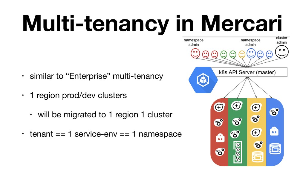 "Multi-tenancy in Mercari • similar to ""Enterpri..."