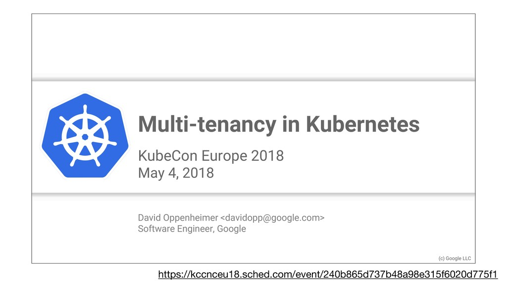 Google Cloud Platform logo Multi-tenancy in Kub...