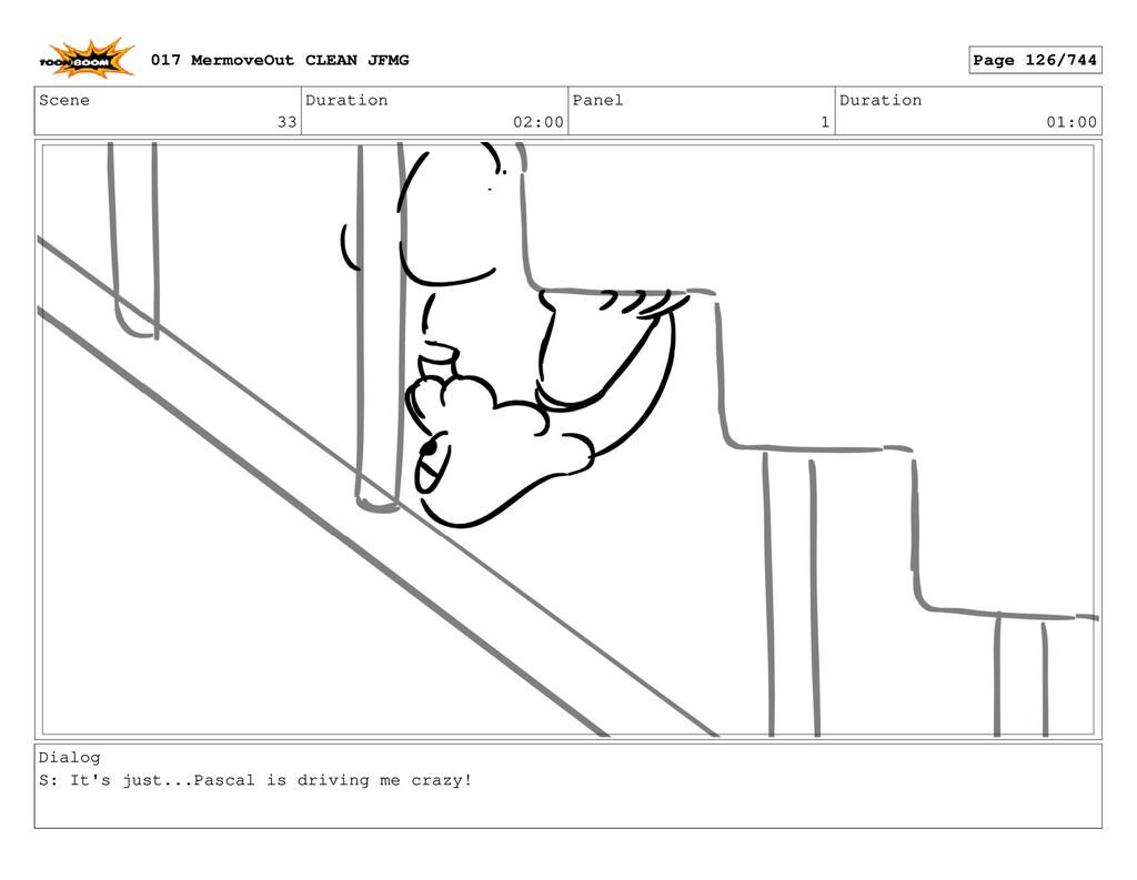 Scene 33 Duration 02:00 Panel 1 Duration 01:00 ...