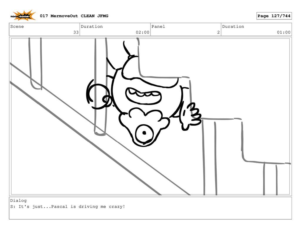 Scene 33 Duration 02:00 Panel 2 Duration 01:00 ...
