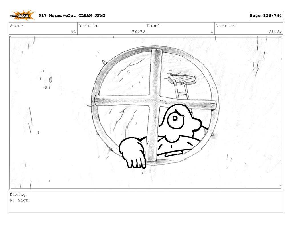 Scene 40 Duration 02:00 Panel 1 Duration 01:00 ...