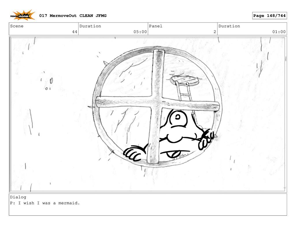 Scene 44 Duration 05:00 Panel 2 Duration 01:00 ...