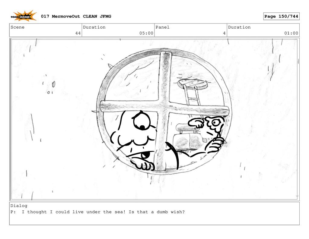 Scene 44 Duration 05:00 Panel 4 Duration 01:00 ...