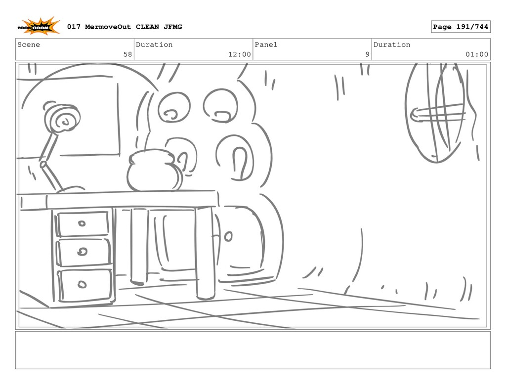 Scene 58 Duration 12:00 Panel 9 Duration 01:00 ...
