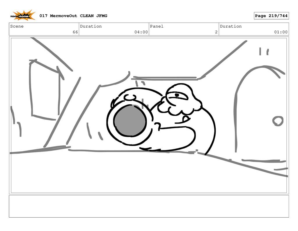 Scene 66 Duration 04:00 Panel 2 Duration 01:00 ...