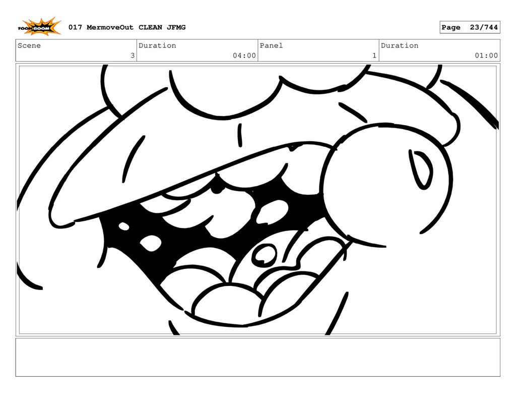 Scene 3 Duration 04:00 Panel 1 Duration 01:00 0...