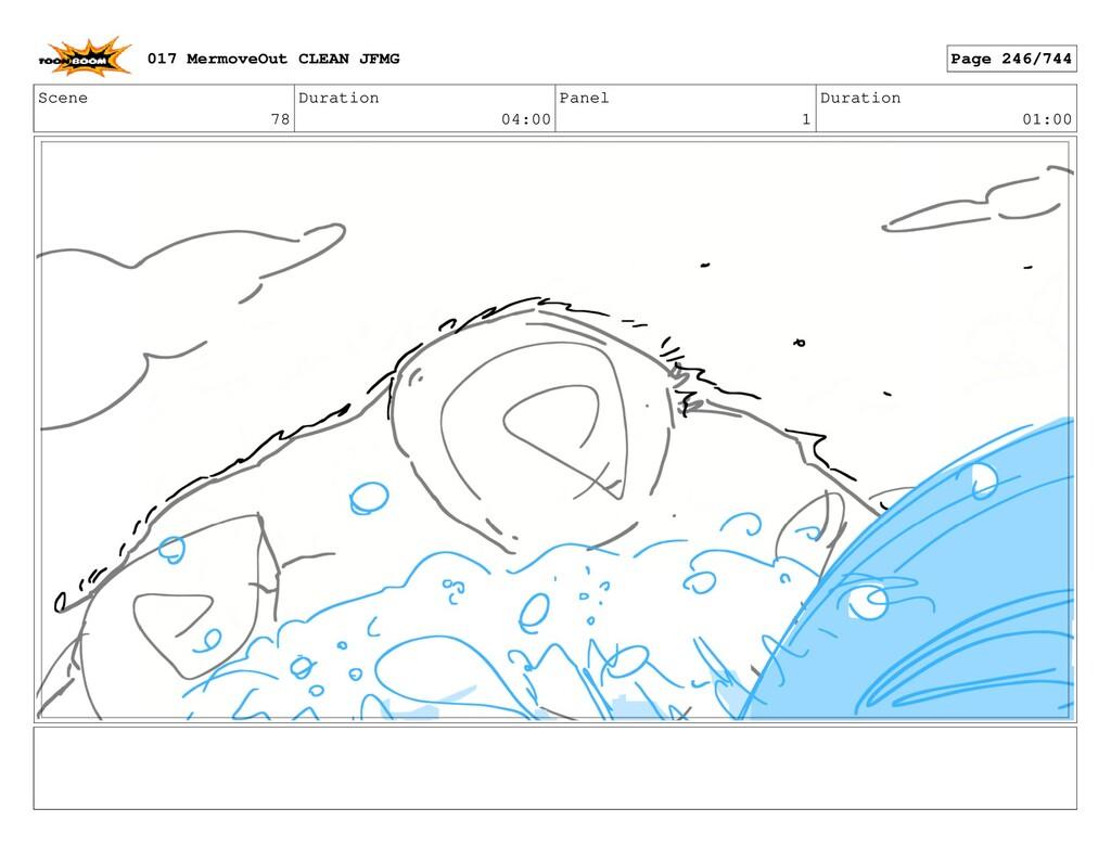 Scene 78 Duration 04:00 Panel 1 Duration 01:00 ...