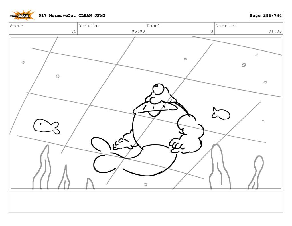 Scene 85 Duration 06:00 Panel 3 Duration 01:00 ...