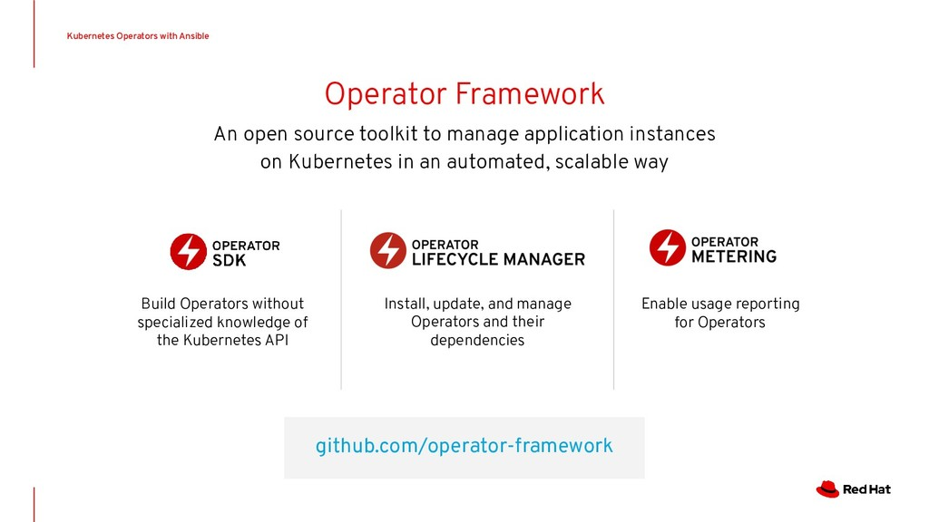 github.com/operator-framework Install, update, ...