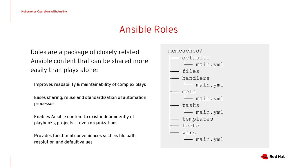 Ansible Roles Roles are a package of closely re...