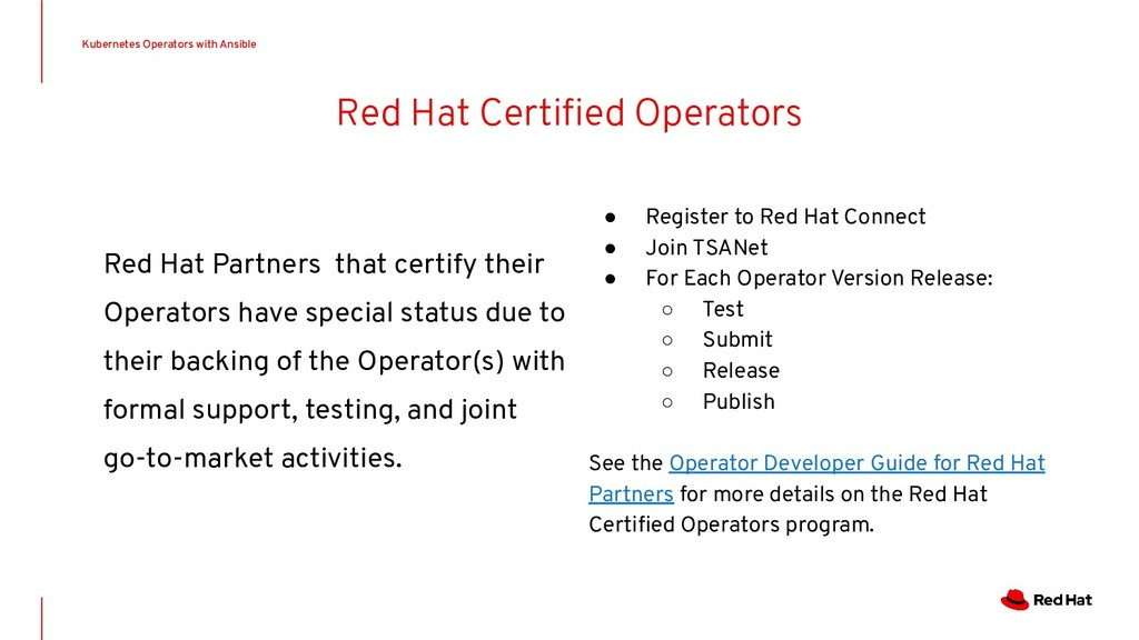 Red Hat Certified Operators Red Hat Partners tha...