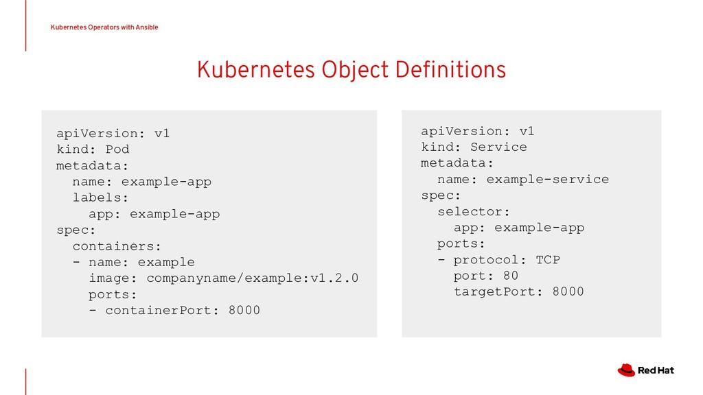 Kubernetes Operators with Ansible apiVersion: v...