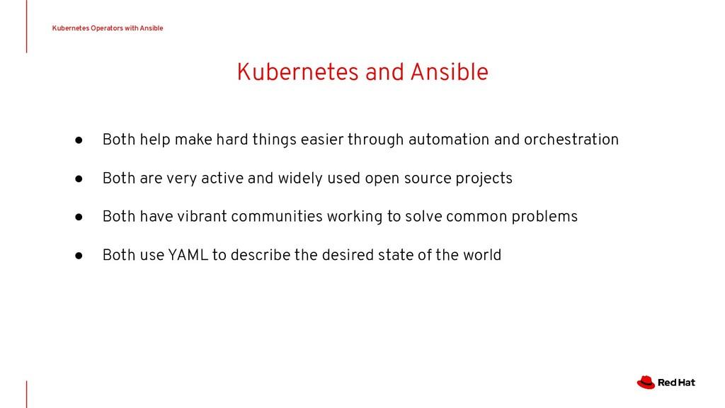 Kubernetes and Ansible Kubernetes Operators wit...