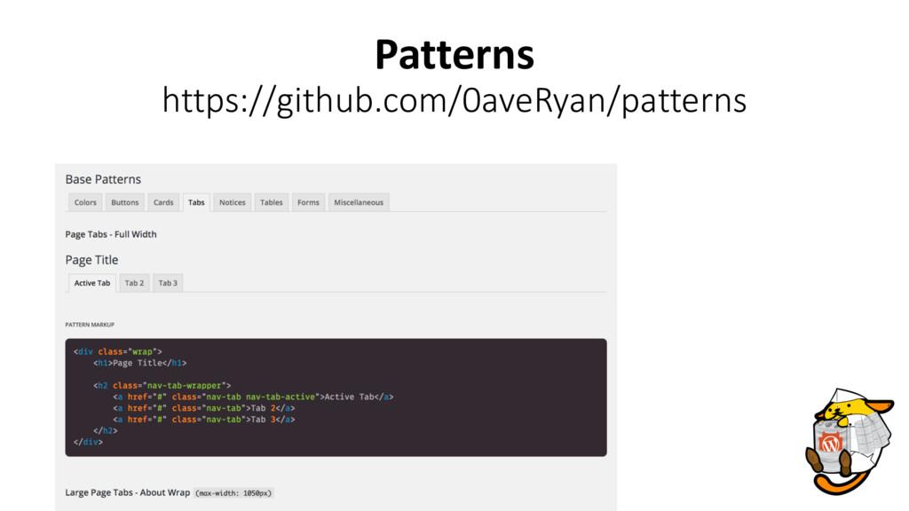 Patterns https://github.com/0aveRyan/patterns